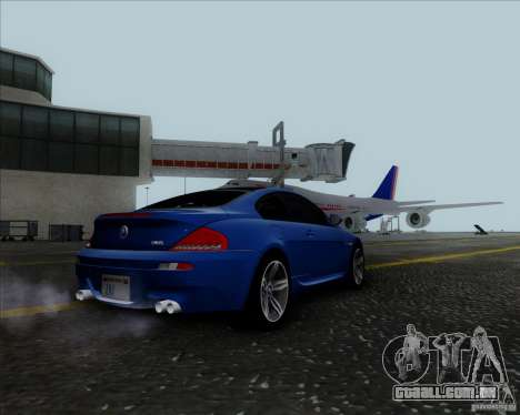 BMW 6 Series M para GTA San Andreas vista direita