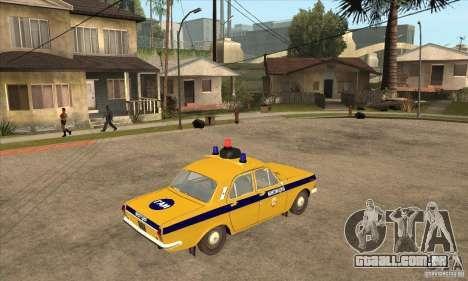 GAZ Volga 2401 polícia para GTA San Andreas vista direita