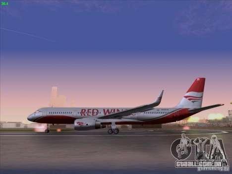 Tupolev Tu-204 Red Wings Airlines para GTA San Andreas esquerda vista