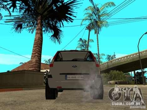 Ford Fusion 2009 para GTA San Andreas traseira esquerda vista
