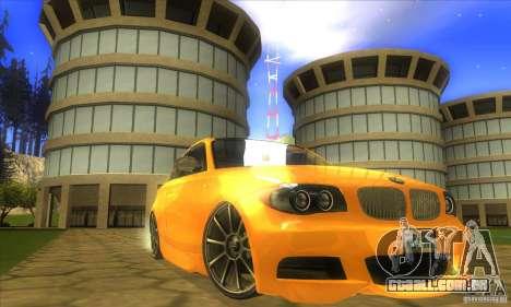 BMW 135i Coupe Custom para GTA San Andreas vista direita