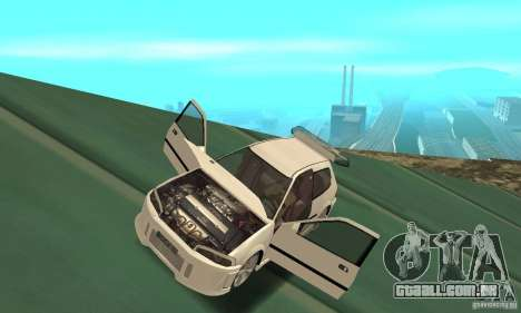 Honda Civic SiR II Tuning para GTA San Andreas vista traseira