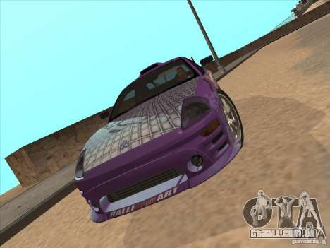 Mitsubishi Eclipse Spyder 2FAST2FURIOUS para GTA San Andreas vista direita