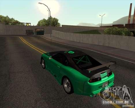 Toyota Supra ZIP style para GTA San Andreas traseira esquerda vista