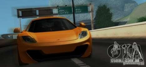 McLaren MP4-12C TT Black Revel para GTA San Andreas vista inferior