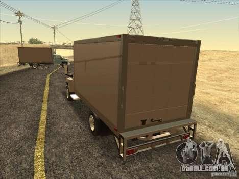 GMC 5500 2001 para GTA San Andreas traseira esquerda vista