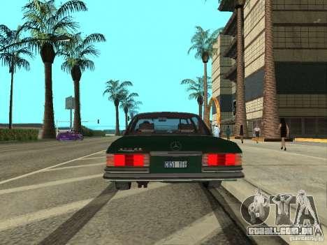 Mercedes - Benz 280SE para GTA San Andreas vista direita