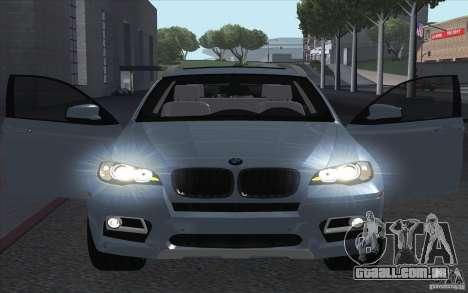 BMW X6M 2013 para GTA San Andreas vista direita