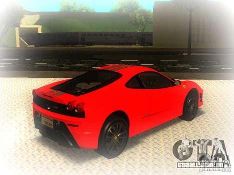 Ferrari 430 Scuderia TT Black Revel para GTA San Andreas traseira esquerda vista