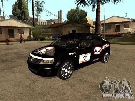 Dacia Logan Rally Dirt para GTA San Andreas vista inferior