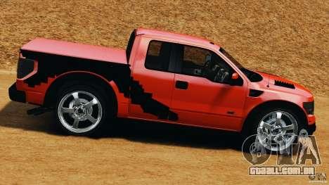 Ford F-150 SVT Raptor para GTA 4 esquerda vista