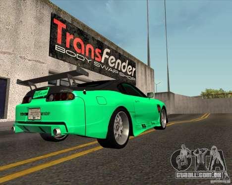 Toyota Supra ZIP style para GTA San Andreas esquerda vista