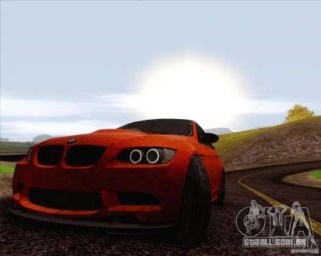BMW M3 GT-S para vista lateral GTA San Andreas