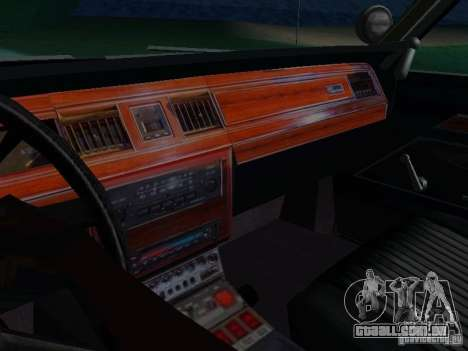 Ford Crown Victoria LTD 1992 SFPD para vista lateral GTA San Andreas