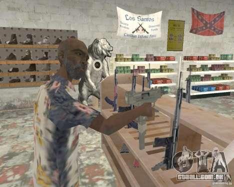 Uma movimentada loja Ammu-Nation v3 (Final) para GTA San Andreas terceira tela