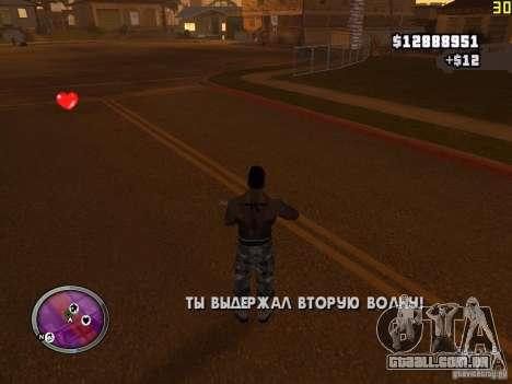 Nova zona GANGSTER para GTA San Andreas nono tela