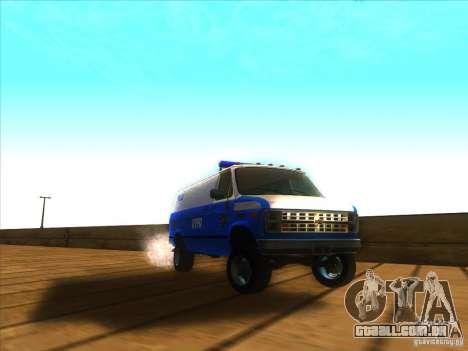 Chevrolet Van G20 BLUE NYPD 1990 para GTA San Andreas vista traseira