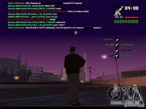 Céu estrelado v 2.0 (para SA: MP) para GTA San Andreas quinto tela