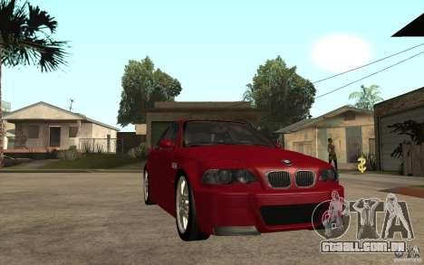 BMW M3 CSL para GTA San Andreas vista traseira