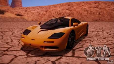 McLaren F1 v1.0.1 1994 para GTA San Andreas