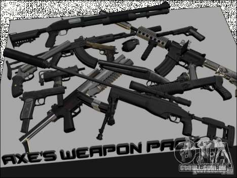 New Weapons Pack para GTA San Andreas