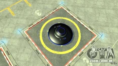 UFO neon ufo blue para GTA 4 vista direita