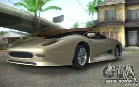 Jaguar XJ 220 Black Rivel para GTA San Andreas vista traseira
