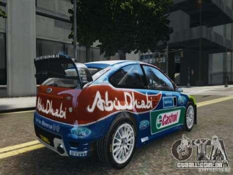Ford Focus RS WRC para GTA 4 esquerda vista
