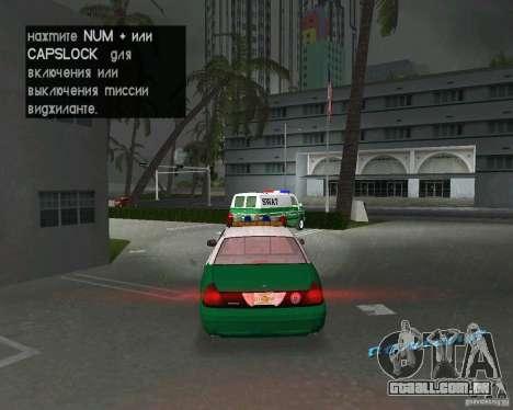 Ford Crown Victoria 2003 Police para GTA Vice City vista direita