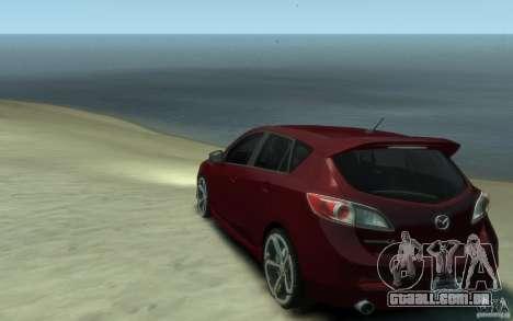 Mazda 3 MPS 2010 para GTA 4 traseira esquerda vista