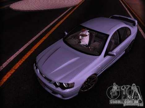 Ford Falcon FPV F6 TYPHOON XR8 2007 para GTA San Andreas traseira esquerda vista