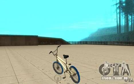 Zeros BMX BLUE tires para GTA San Andreas traseira esquerda vista