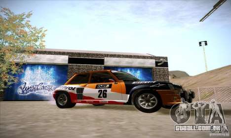 Renault 5 GT Turbo Rally para GTA San Andreas vista direita