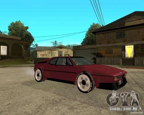 BMW M1 para GTA San Andreas vista direita