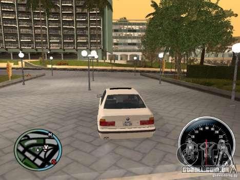 BMW E34 540i para GTA San Andreas traseira esquerda vista