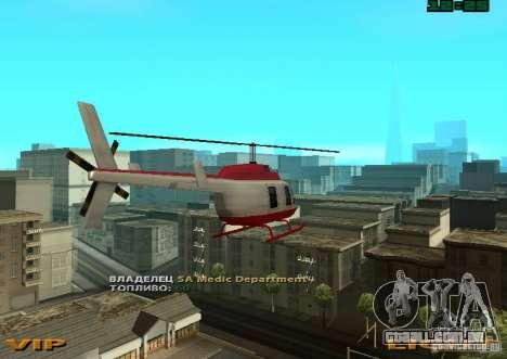 New Maverick para GTA San Andreas esquerda vista