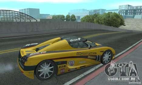 Koenigsegg CCX (v1.0.0) para GTA San Andreas vista direita