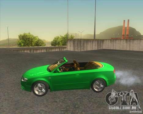 Audi A4 Convertible 2005 para GTA San Andreas esquerda vista
