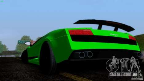 Lamborghini Gallardo LP570-4 Superleggera para GTA San Andreas vista interior