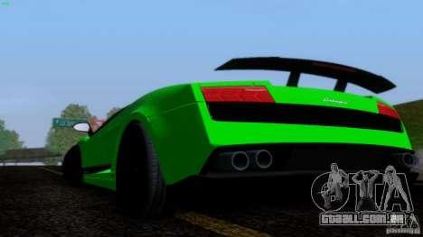 Lamborghini Gallardo LP570-4 Superleggera para GTA San Andreas vista interior