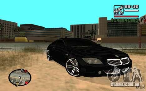 BMW M6 2006 para GTA San Andreas
