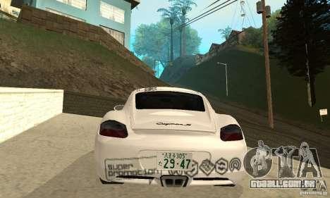 Porsche Cayman S para as rodas de GTA San Andreas