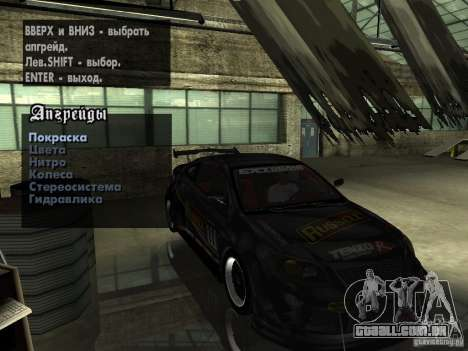 Chevrolet Cobalt SS NFS Shift Tuning para GTA San Andreas