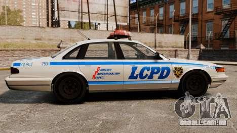 Uma nova viatura policial para GTA 4 esquerda vista