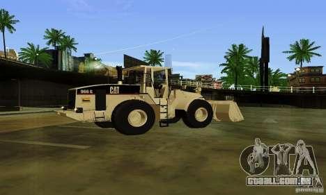 Escavadeira CAT para GTA San Andreas esquerda vista