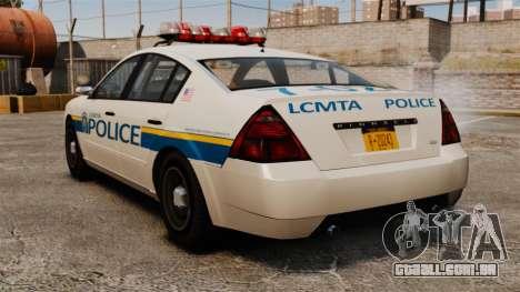 Polícia Pinnacle ESPA para GTA 4 traseira esquerda vista