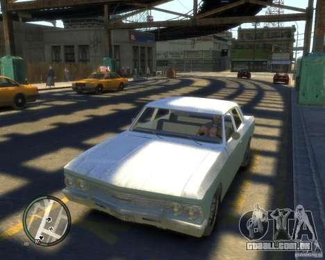 Chevrolet Chevelle 1966 para GTA 4 vista interior