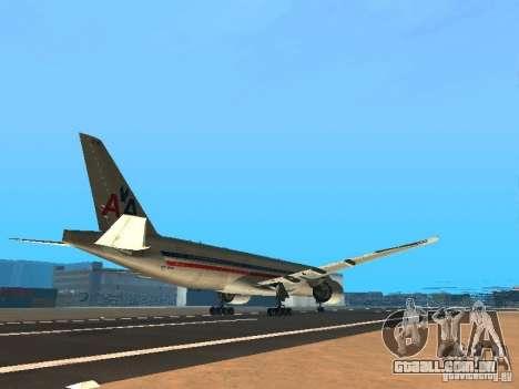 Boeing 777-200 American Airlines para GTA San Andreas vista direita