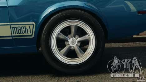 Ford Mustang Mach I 1973 para GTA 4 vista de volta