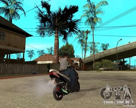 Honda Click para GTA San Andreas traseira esquerda vista
